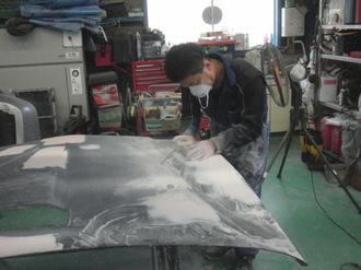 ナイトライダー  トランザム ボンネット板金塗装 前篇画像8