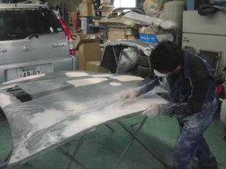 ナイトライダー  トランザム ボンネット板金塗装 前篇画像9