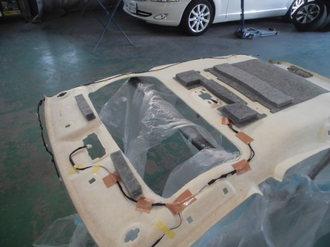 トヨタアクア 社外サンルーフ取り付け画像8